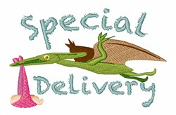 Pterodactyl Delivering Baby embroidery design