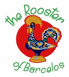 Portuguese Rooster embroidery design
