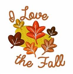 I Love the Fall embroidery design