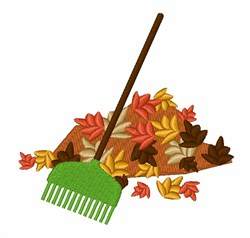 Leaf Pile embroidery design