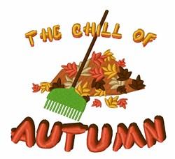 Autumn Leaf Pile embroidery design
