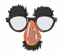 Funny Glasses embroidery design