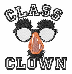 Funny Glasses Class Clown embroidery design
