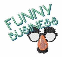 Funny Glasses Funny Business embroidery design
