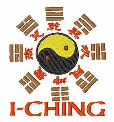 I-Ching embroidery design