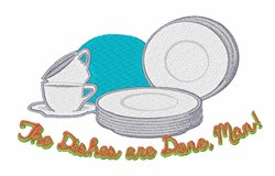 The Dishes Are Done embroidery design