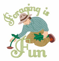 Foraging Is Fun embroidery design