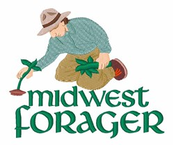 Midwest Forager embroidery design