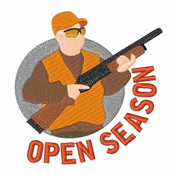 Open Season embroidery design