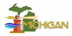 Michigan embroidery design