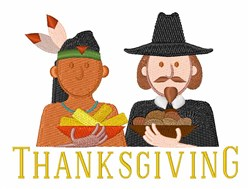 Thanksgiving People embroidery design