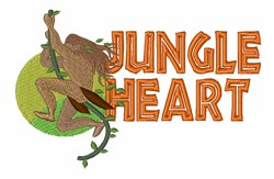 Jungle Heart embroidery design