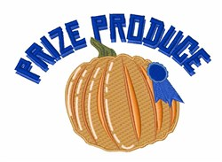 Prize Produce embroidery design