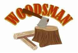 Woodsman embroidery design