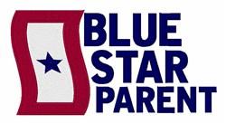 Blue Star Parent embroidery design