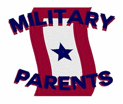 Military Parents embroidery design