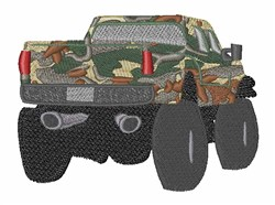 Hunter Truck embroidery design