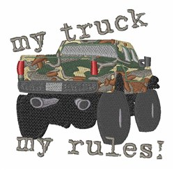 My Truck embroidery design