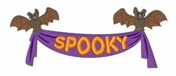 Spooky Banner embroidery design