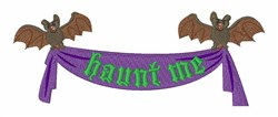Haunt Me embroidery design