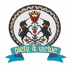 Piety & Virtue embroidery design