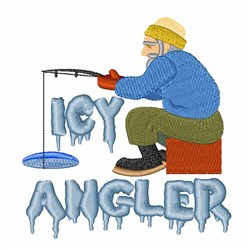 Icy Angler embroidery design