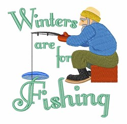 Winters For Fishing embroidery design