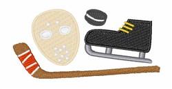 Hockey  Gear embroidery design
