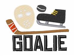 Hockey Goalie embroidery design