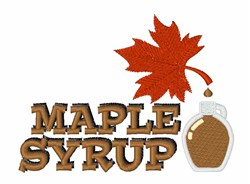 Maple Syrup embroidery design
