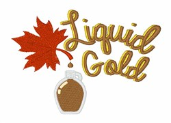 Liquid Gold embroidery design
