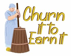 Churn It embroidery design