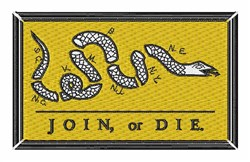 Join Or Die embroidery design
