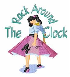 Rock Around Clock embroidery design