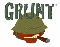 Grunt embroidery design