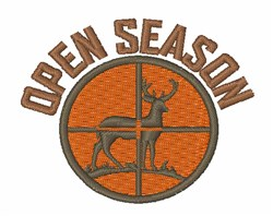 Open Season embroidery design