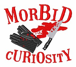 Morbid Curiosity embroidery design