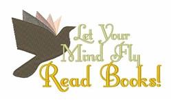 Read Books embroidery design