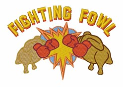 Fighting Fowl embroidery design