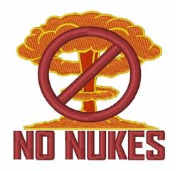 No Nukes embroidery design