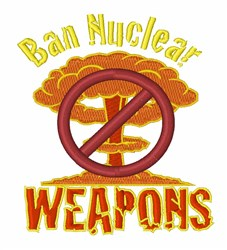 Ban Nuclear Weapons embroidery design