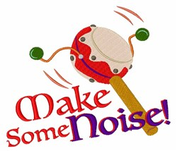 Make Noise embroidery design