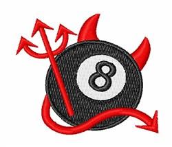 Devil 8 Ball embroidery design