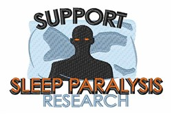 Sleep Paralysis Research embroidery design