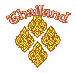 Thailand embroidery design