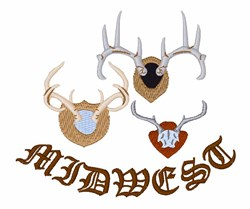 Midwest Hunter embroidery design