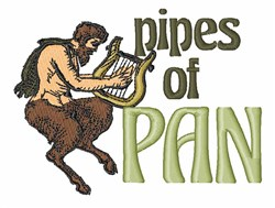 Pipes of Pan embroidery design