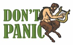 Dont Panic embroidery design