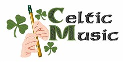 Celtic Music embroidery design