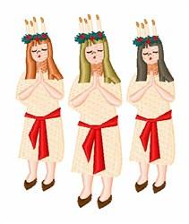 Swedish Christmas Girl embroidery design